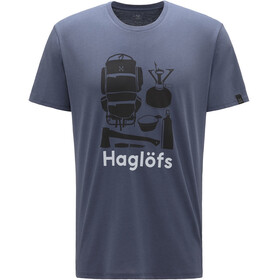 Haglöfs Camp T-shirt Homme, dense blue/true black